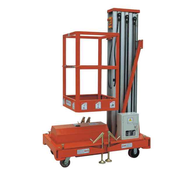 AWP6-1000 AWP8-1000 AWP10-1000 Mobile Aluminium Work Platform (Single Mast)